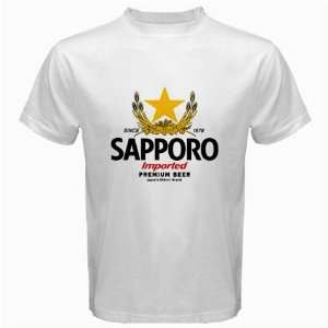 Sapporo Beer Logo New White T Shirt Size  2XL