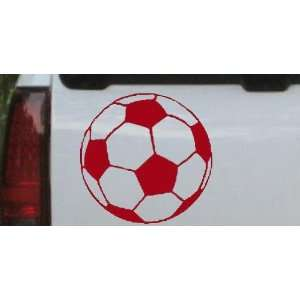 Soccer Ball Sports Car Window Wall Laptop Decal Sticker    Red 16in X