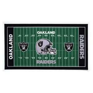 NFL Oakland Raiders XL Football Field Mat