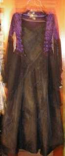 GOTHIC BLACK LACE PURPLE VELVET DRESS Eternal NYC Size M