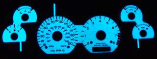 1999 2004 FORD MUSTANG GT 150MPH GLOW GAUGES 2000 2001