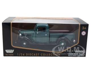 1937 FORD PICK UP TRUCK GREEN 124 DIECAST MODEL CAR