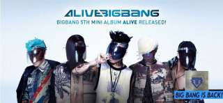F6x Free Gift (Unfolded Poster) BigBang ALIVE G Dragon ver. CD