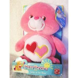 2002 Care Bears 8 Plush Love A Lot Bear Bean Bag Doll Toys & Games