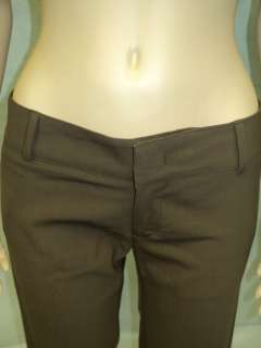 YA YA Light Brown Wool Blend Dress Pants Trousers 2 XS