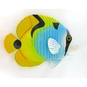 Tri Color Fish Indoor Outdoor Wall Hanging Statue Art