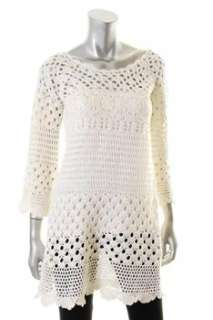 Lucky Brand Jeans NEW White Crochet Tunic Sale Top L