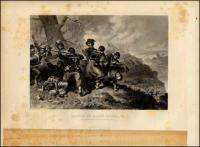 Vintage Civil War Engraving   Battle of Balls Bluff VA