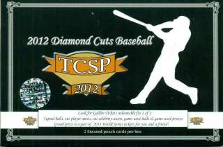 2012 TRI CITY SPORTS DIAMOND CUTS BASEBALL BOX (PACK) (2 CARDS/BOX