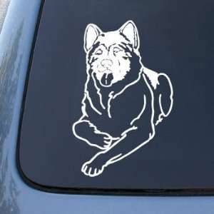 com AKITA   Dog   Vinyl Car Decal Sticker #1484  Vinyl Color White