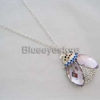 4GB Crystal Ladybird Necklace USB Flash Memory Drive