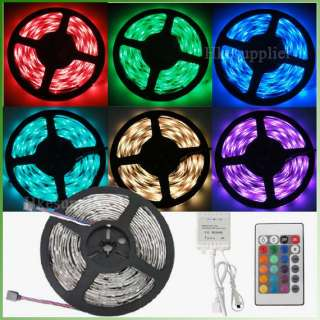 5M 5050 RGB SMD Waterproof Flexible LED Strip Light 150 Leds + 24Key