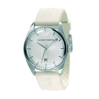 NEW EMPORIO ARMANI LADIES RUBBER STRAP WATCH AR0684