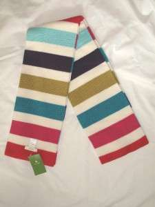 NWT KATE SPADE FIFTH AVENUE MULTI COLOR STRIPE SCARF