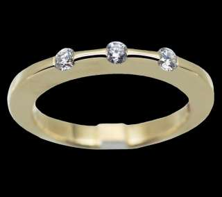 Roberto Coin Classica Parisienne 18k Yellow Gold Diamond Ring