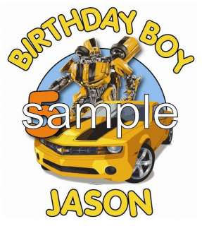 TRANSFORMERS BUMBLEBEE Personalized Birthday T Shirt