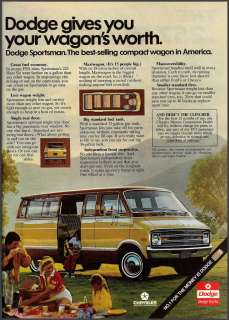 1975 DODGE Sportsman VAN Photo AD