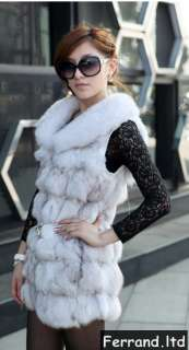 Fox Fur Women Coat/Jacket/Vest For Winter 8 Colors Series VF01