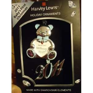 Harvey Lewis Babys First Christmas 2011 Teddy Bear & Year