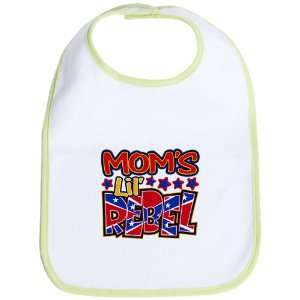 Baby Bib Kiwi Moms Lil Rebel   Confederate Flag