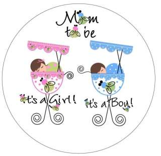 48   Twins Baby Shower Favor Labels Seals Stickers
