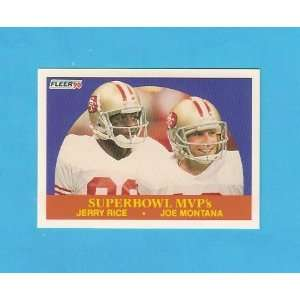 Joe Montana 1990 Fleer Football Superbowl MVPs (San