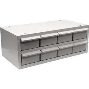 TruckStar Steel Sliding Drawer Truck Box  8 Drawers, Horizontal, White