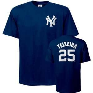 Name and Number Navy New York Yankees T Shirt