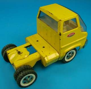 Car Carrier 28 Yellow Steel Toy Truck+Trailer Transporter Set