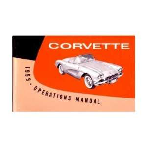 1959 CHEVROLET CORVETTE Owners Manual User Guide Automotive