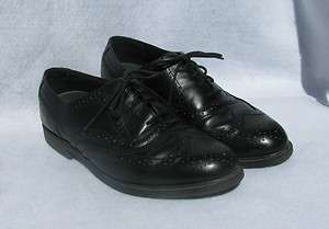 Deer Stags Tribune Black Leather Dress Shoes, Mens Size 10 M
