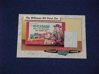CLASSIC TOYS TRADING CARDS THE RIFLEMAN OIL PAINT SET