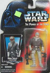 Star Wars 3 3/4 POTF Red Card Han Solo in Hoth Gear