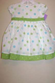 Carters Infant Girls Polka Dot Dress+Cover 3M NWT