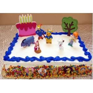 My Friends Tigger and Pooh 14 Piece Birthday Cake Set Featuring Eeyore