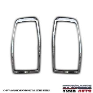2007 2012 Chevy Avalanche Chrome Tail Light Bezels Automotive