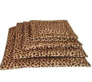 NEW Leopard Tiger Print Pet Dog Cat Cushion Pillow Bed Washable Cage S