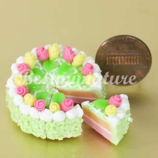 Slice CAKEs (L 3.5cm) Dollhouse miniature Cake Food Bakery Barbie