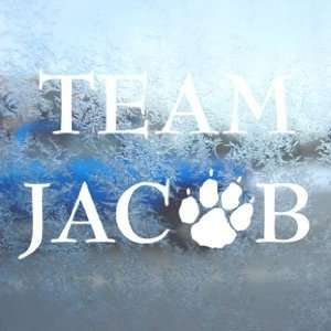 Twilight Team Jacob White Decal Car Window Laptop White Sticker