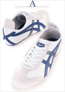 Brand New Asics Onitsuka Tiger Mexico 66 White/Navy Shoes T56