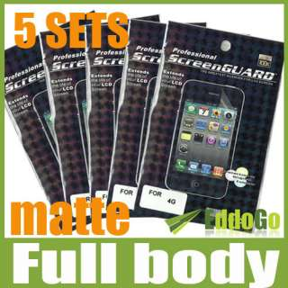 Body Matte Anti glare LCD Screen Shield Protector film For iphone 4 4G