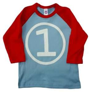 Happy Family First Birthday 3/4 Sleeve Baby Boy Light Blue