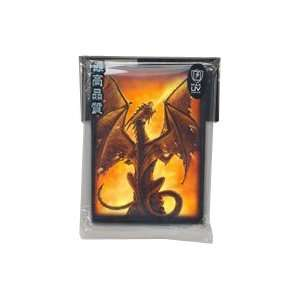 50 FIRE BREATHER MTG CARD SLEEVES MAGIC DECK PROTECTORS