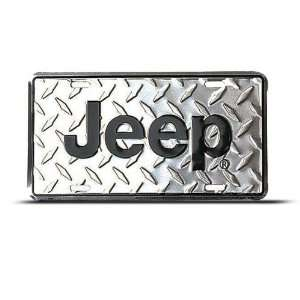 Diamond Background Metal Novelty Car Auto License Plate Wall Sign Tag