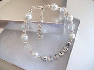 Personalised flower girl holy communion bracelet boxed