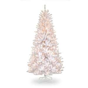 Dunhill White Irridescent Slim Fir Hinged Tree with 600 Clear Lights