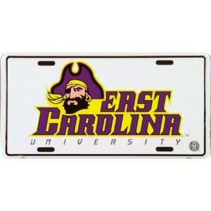 6x12) East Carolina University NCAA Tin License Plate