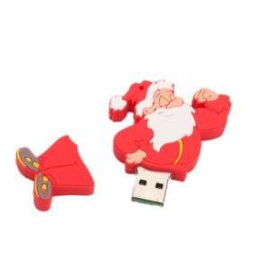 1GB Complacent Santa Claus Cartoon USB 2.0 Flash Memory