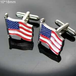 Trim Star and Stripes American Flag Cufflinks Cuff Links Jewelry