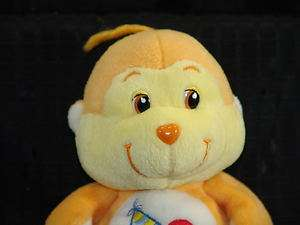 2002 8 Plush Care Bear Cousin Playful Heart Monkey Toy